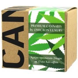 Premium Cannabis by Omicron Luxury Κρέμα Προσώπου 24ωρη με Έλαιο Κάνναβης, 50ml