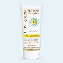 Coverderm Filteray Face Plus 2 in 1 Sunscreen & After Sun Care Oily/Acneic Skin SPF30 50ml