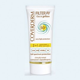 Coverderm Filteray Face Plus 2 in 1 Sunscreen & After Sun Care Oily/Acneic Skin SPF50+ 50ml