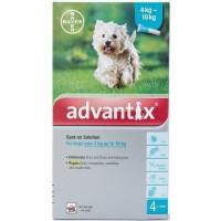Advantix Spot-On Διάλυμα για Σκύλους από 4-10Kg, 1 Πιπέτα