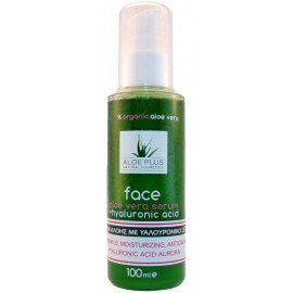 Aloe Plus Aloe Vera Face Serum Hyaluronic Acid Ορός Προσώπου Με Οργανική Αλόη & Υαλουρονικό Οξύ, 100ml