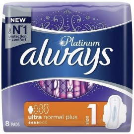 Always Platinum Ultra Normal Plus No1 Wings 8τμχ