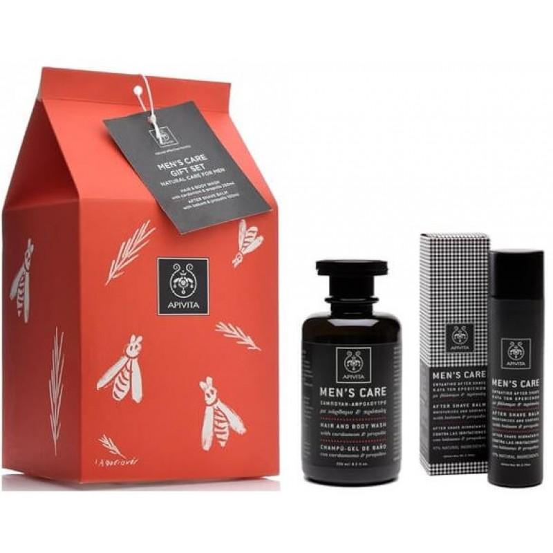Apivita Men's Care Ενυδατικό After Shave με Βάλσαμο & Πρόπολη 100ml & Σαμπουάν - Αφρόλουτρο 250ml