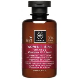 Apivita Women's Tonic Shampoo Σαμπουάν Γυναικείας Τριχόπτωσης Hippophae TC & Δάφνη 250ml