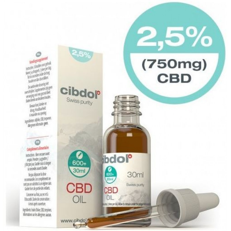 Cibdol CBD Oil Mild 2.5% 750mg 30ml