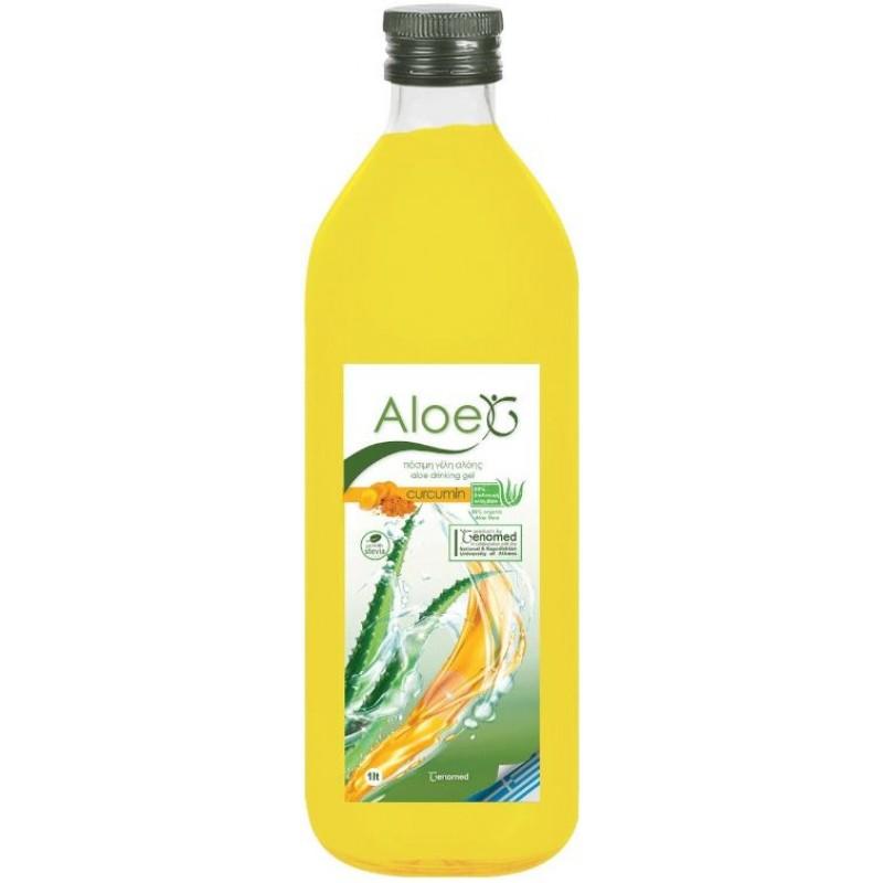Genomed Aloe G Πόσιμο Gel Κρητικής Αλόης Με Κουρκουμά & Στέβια 1lt