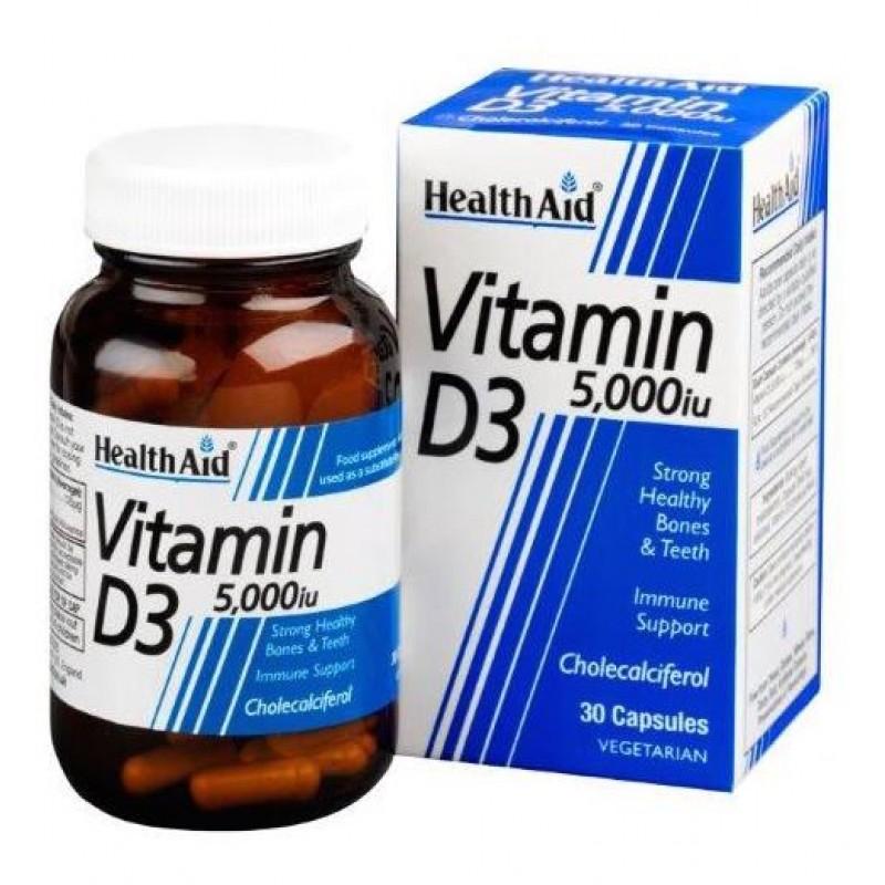 Health Aid Vitamin D3 5000iu, 30 Κάψουλες