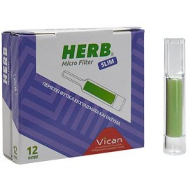 Herb Micro Filter για Slim Τσιγάρο, 12 Πίπες