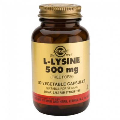 Solgar L-Lysine 500mg 50 Veg.Caps