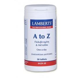 Lamberts A-Z Multi Πολυβιταμίνη 30 Ταμπλέτες