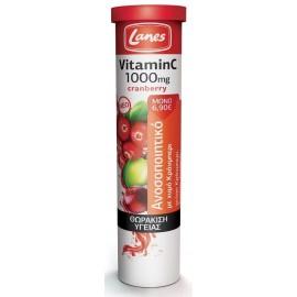 Lanes Βιταμίνη C 1000mg & Cranberry, 20 Αναβράζουσες Ταμπλέτες