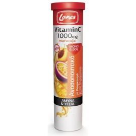 Lanes Βιταμίνη C 1000mg Maracuja, 20 Αναβράζουσες Ταμπλέτες