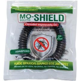 Menarini Mo-Shield Insect Repellent Band Αντικουνουπικό Βραχιόλι Σιλικόνης, Μαύρο, 1τμχ