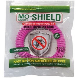 Menarini Mo-Shield Insect Repellent Band Αντικουνουπικό Βραχιόλι Σιλικόνης, Ροζ, 1τμχ