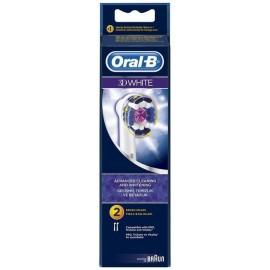 Oral-B Ανταλλακτικές Κεφαλές 3D White 2τμχ