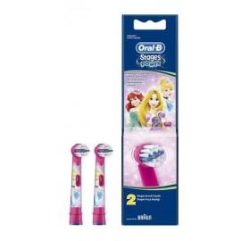 Oral-B Ανταλλακτικές Κεφαλές Stages Power Disney Princess, 2 τμχ