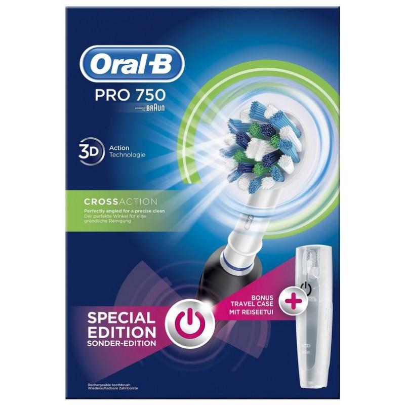 Oral-B Pro 750 CrossAction Special Edition Black + Travelcase
