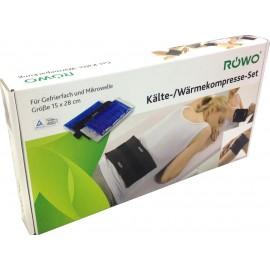 Rowo Cold/Hot- Παγοκύστη/Θερμοφόρα Γέλης 15x28cm, Πολλαπλών Χρήσεων 2 τεμάχια