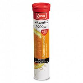 LANES Vitamin C 1000mg Orange 20 Αναβράζοντα Δισκία